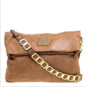 Tory Burch Brown Leather Crossbody OR Clutch Bag